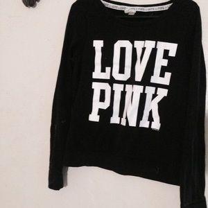 Victoria Secret Pink black and white sweater